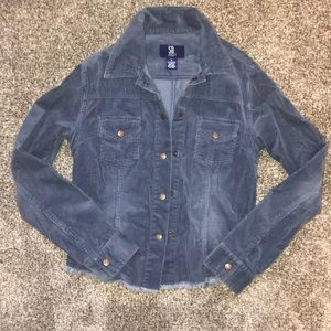 Blue Corduroy Snap Jacket
